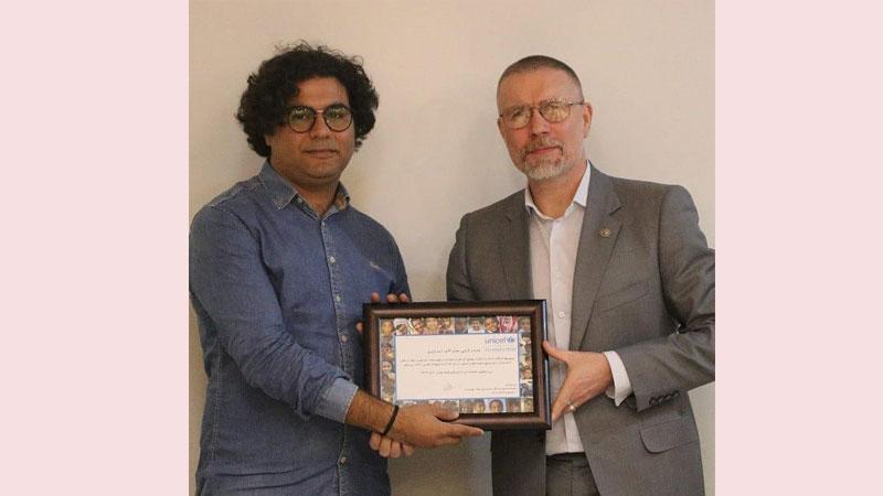 اهدای دیپلم افتخار یونیسف به مستند «همشهری جنگ»