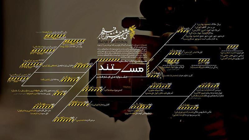 اینفوگرافیک: مستندهای برگزیده ادوار جشنواره فیلم فجر در یک نگاه